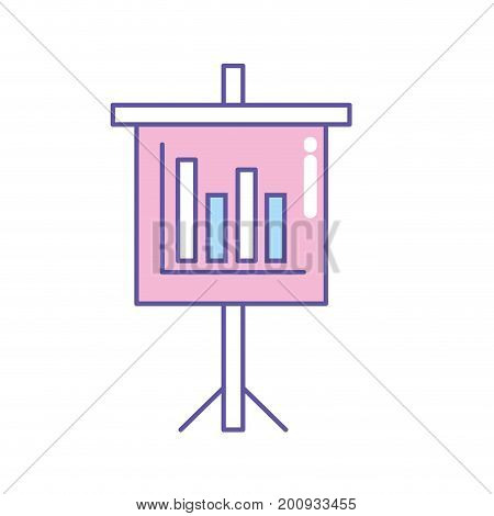 presentation business document with statistics bars graphy vector illustration