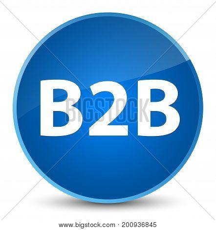 B2B Elegant Blue Round Button