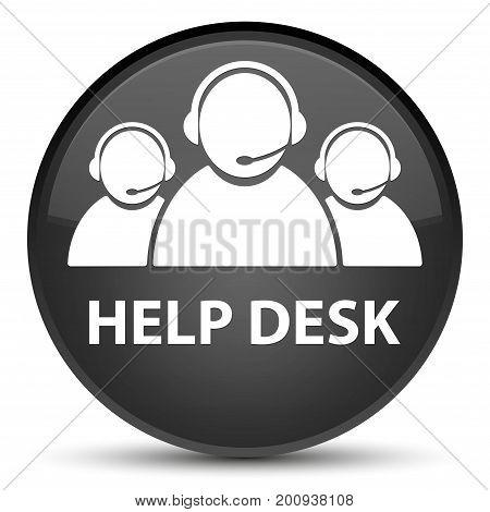 Help Desk (customer Care Team Icon) Special Black Round Button