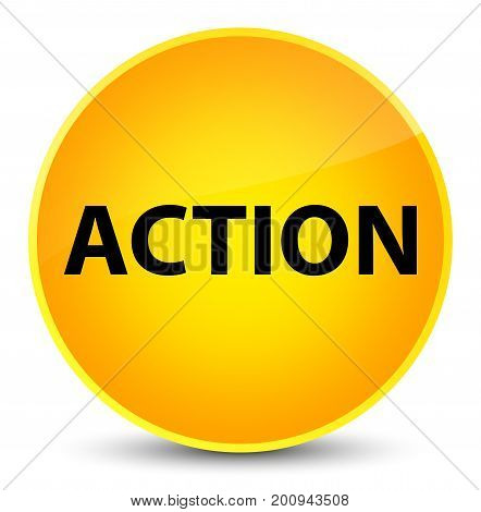 Action Elegant Yellow Round Button