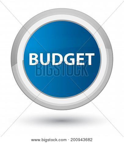 Budget Prime Blue Round Button