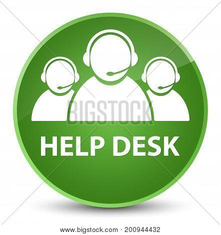 Help Desk (customer Care Team Icon) Elegant Soft Green Round Button
