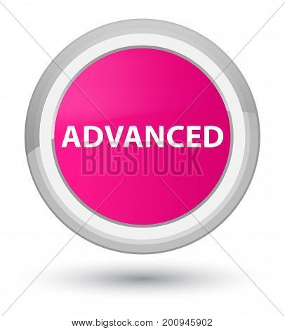 Advanced Prime Pink Round Button