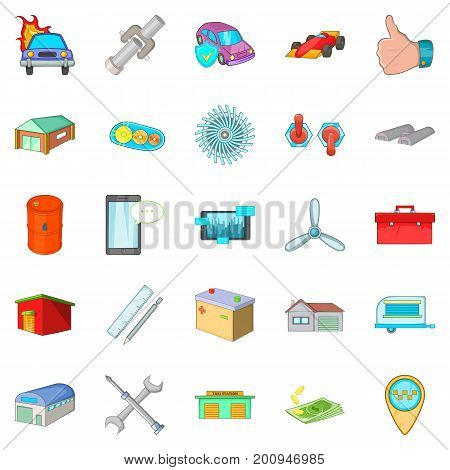 Shed icons set. Cartoon set of 25 shed vector icons for web isolated on white background
