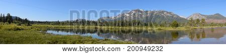 Panorama Scenery on South Lake Tahoe in California
