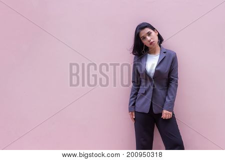 The portrait of a young bussiness woman
