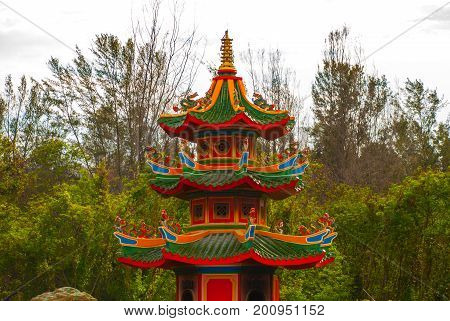 Chinese Temple Tua Pek Kong. Miri City, Borneo, Sarawak, Malaysia
