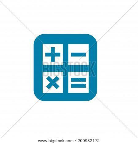 silhouette calculator technology to mathematics account report vector illustration