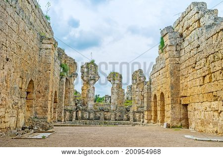 The Ruins Of Temple In Perge