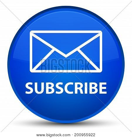 Subscribe (email Icon) Special Blue Round Button