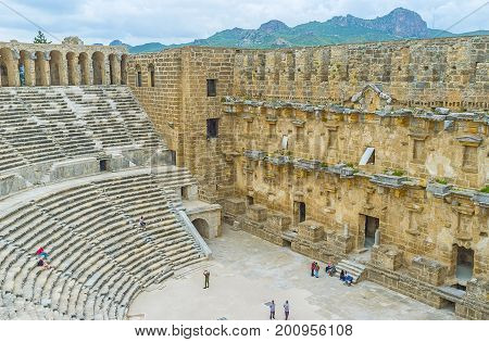 Among The Ruins Of Aspendos Amphitheater