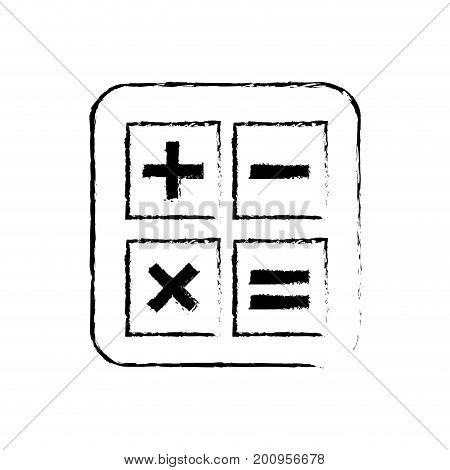 figure calculator technology to mathematics account report vector illustration