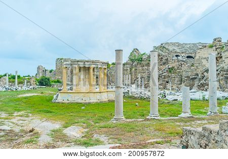 Restored Tyche Temple In Side