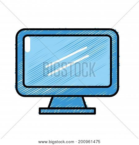 computer electronic technology with database information vecto illustration