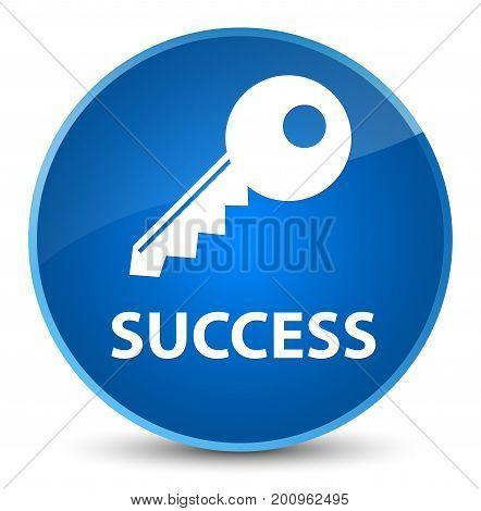 Success (key Icon) Elegant Blue Round Button