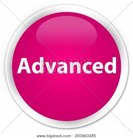 Advanced Premium Pink Round Button