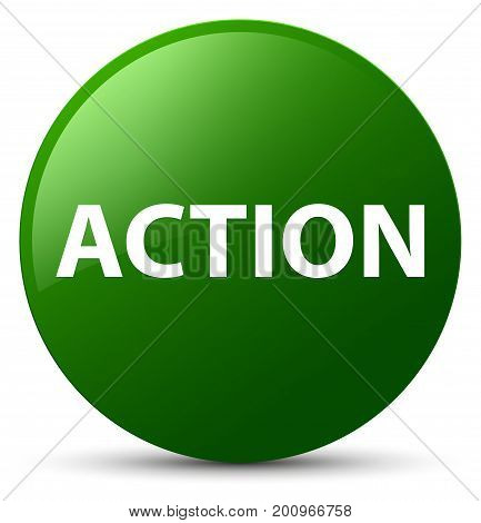 Action Green Round Button