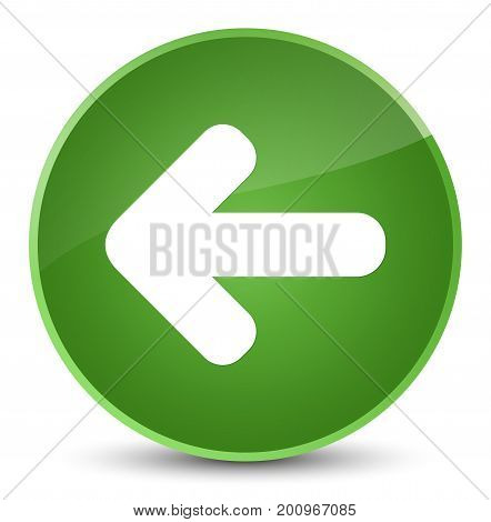 Back Arrow Icon Elegant Soft Green Round Button