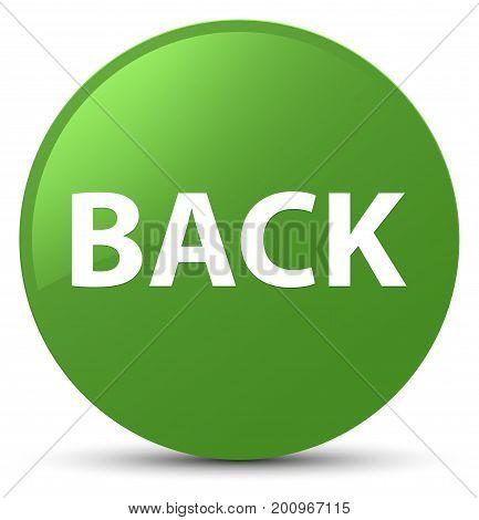 Back Soft Green Round Button