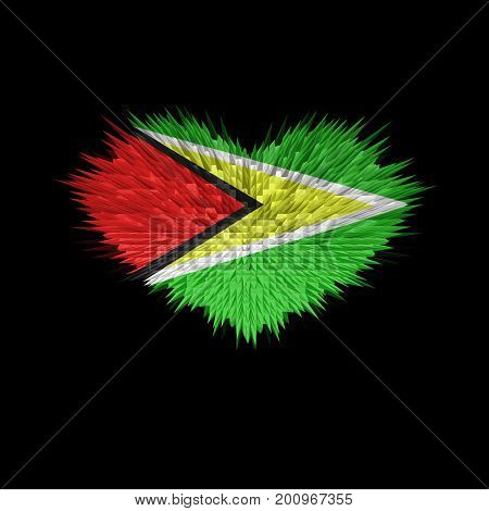 The Heart of Guyana Flag abstract background.