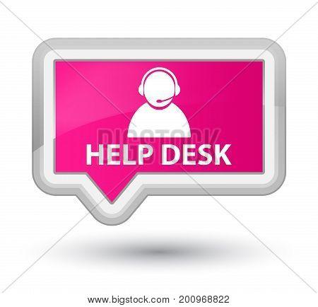 Help Desk (customer Care Icon) Prime Pink Banner Button
