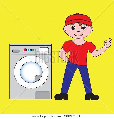 Master of repair service and maintenance of household appliances.