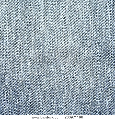 Jeans Denim Texture. Light Gray Blue Color
