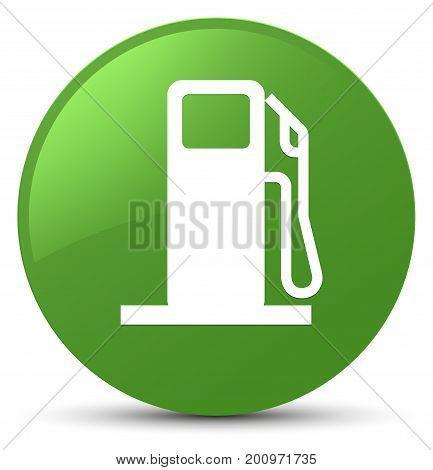 Fuel Dispenser Icon Soft Green Round Button