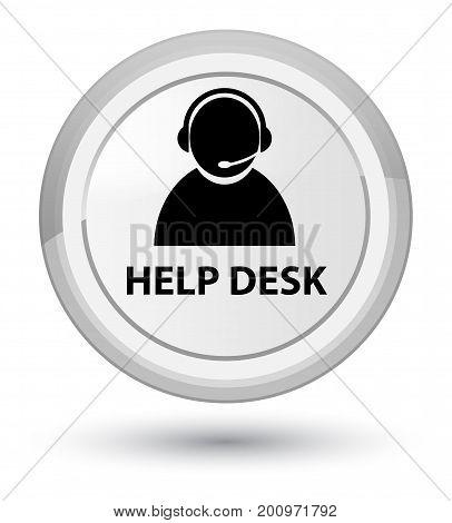 Help Desk (customer Care Icon) Prime White Round Button