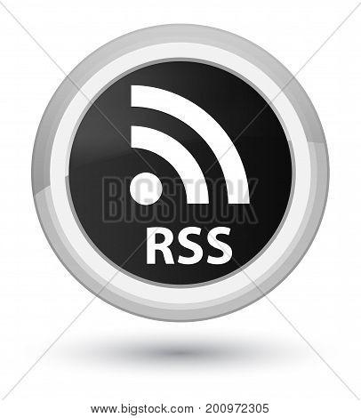 Rss Prime Black Round Button
