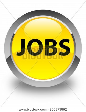 Jobs Glossy Yellow Round Button