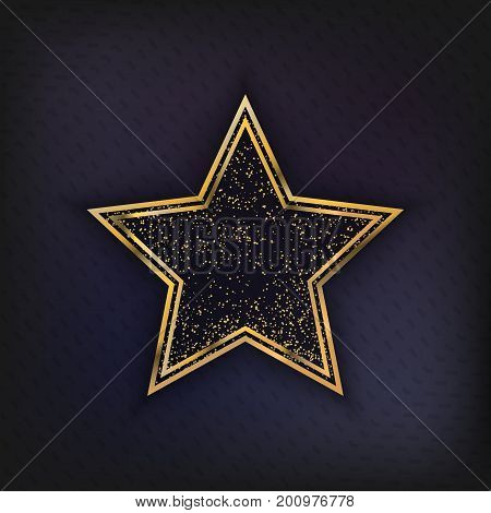 Walk of Fame Star isolated Vector Illustration. Hollywood actor award for achievement, award symbol star design cover for your projects.