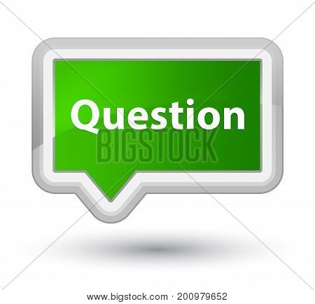 Question Prime Green Banner Button