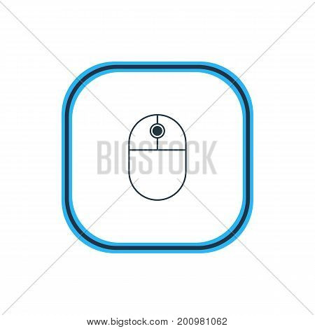 Beautiful Computer Element Also Can Be Used As Cursor Manipulator Element.  Vector Illustration Of Mouse Outline.