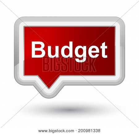 Budget Prime Red Banner Button