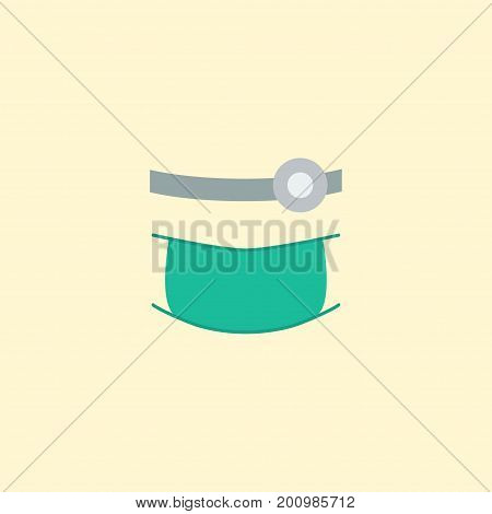 Flat Icon Orthodontist Element. Vector Illustration Of Flat Icon Stomatology Isolated On Clean Background