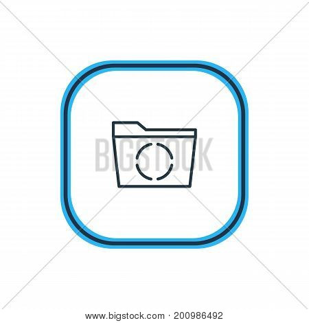 Beautiful Bureau Element Also Can Be Used As Loading  Element.  Vector Illustration Of Reload Outline.