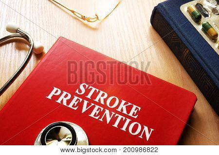 Stroke Prevention written on a book cover.