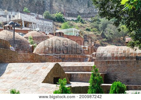 Banotubani District In The Old Town Of Tbilisi. It Is District With Public Bathhouses That Use The S