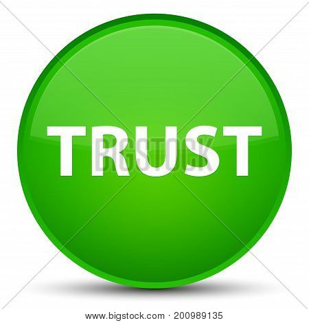 Trust Special Green Round Button