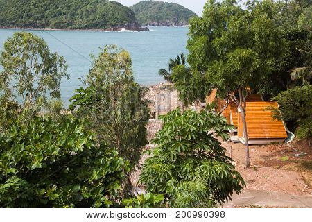 NAM DU, VIETNAM - JULY 27, 2017: Beach resort in Nam Du Islands, Kien Giang, Vietnam. Nam Du is a popular tourist attraction among Vietnamese people. Foreigners are only allowed with a permit.