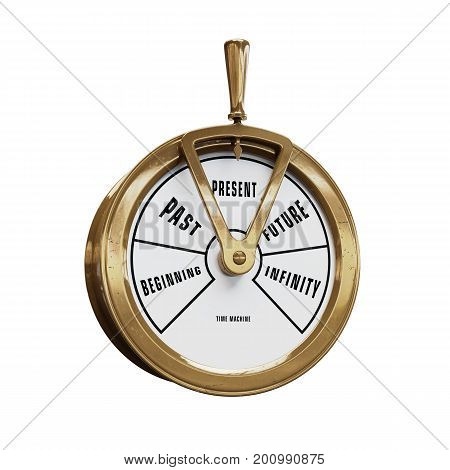 Ship telegraph time machine going to Present time