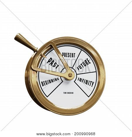 Ship telegraph time machine going to the Past
