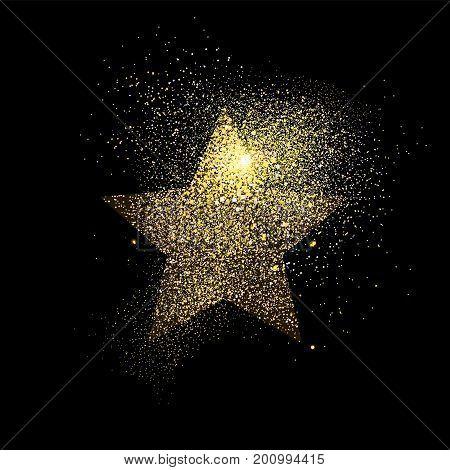 Star Gold Glitter Art Concept Symbol Illustration