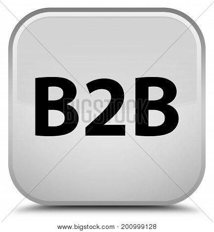 B2B Special White Square Button