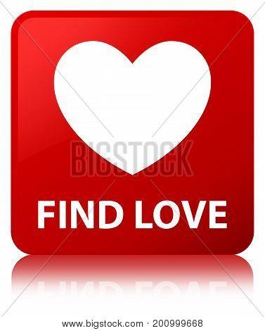 Find Love Red Square Button