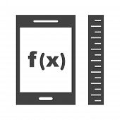 Function, maths, calculus icon vector image. Can also be used for Math Symbols. Suitable for use on web apps, mobile apps and print media. poster