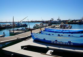 Yahts And Boats In Port Cambrils, Spain