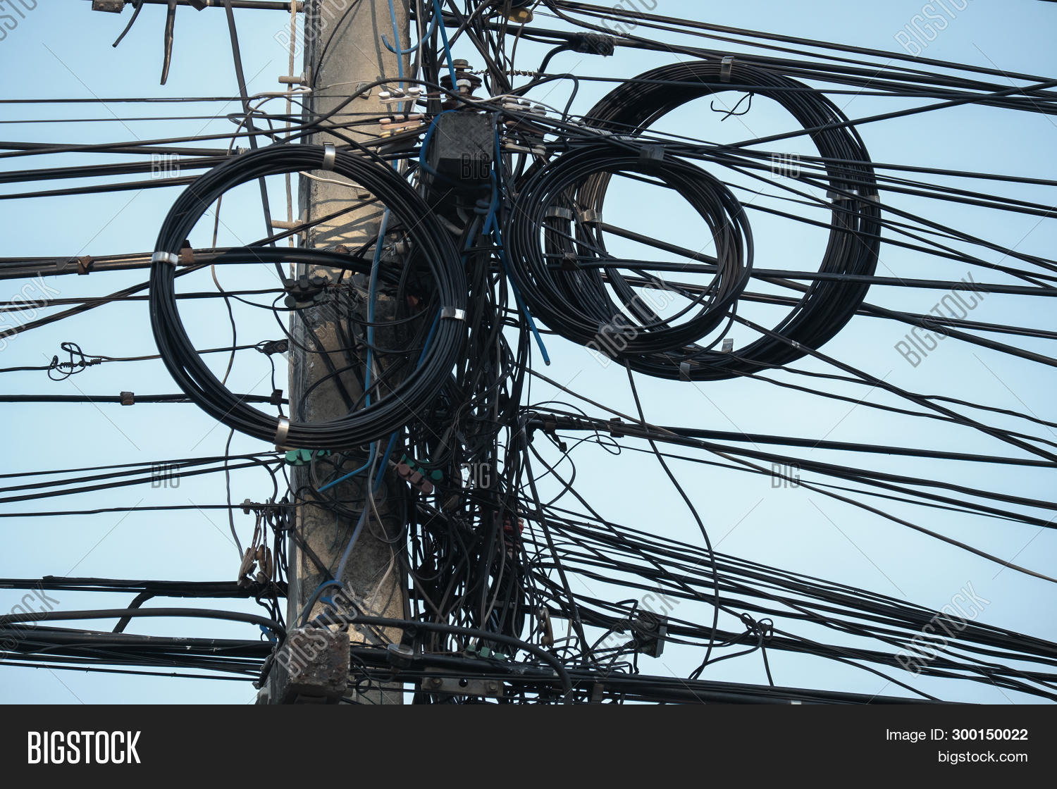 Tangled Electric Wire Image Photo Free Trial Bigstock