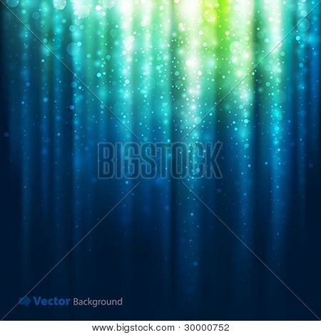 Abstract blurred glowing background with sparks. Vector illustration.